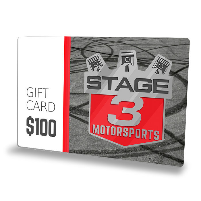 $100 Stage 3 Motorsports Gift Card