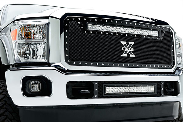 2011-2015 Super Duty T-Rex Torch Series Upper LED Light Bar Grille