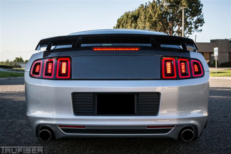 2010 2014 Mustang Trucarbon Carbon Fiber Gt Cs Style Rear