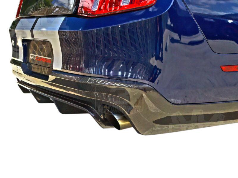 Trucarbon Carbon Fiber Parts 1999 Mustang Fuse Box Dashboard 2010 2012 Rear Diffuser