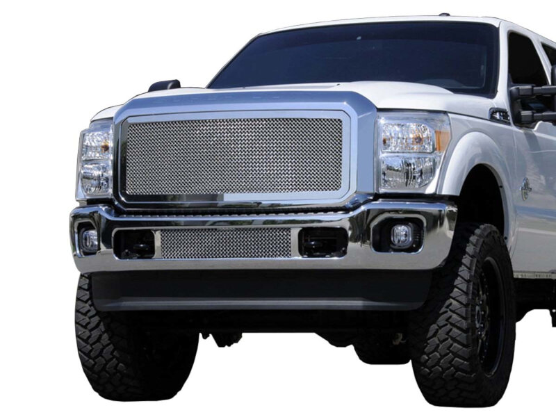 11-16 F250 & F350 T-Rex Polished Mesh Upper Grille