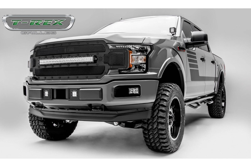 T Rex Car Price >> 2018-2019 F150 T-Rex X-Metal Formed Torch Series LED Light Bar Upper Grille (Black with Black ...