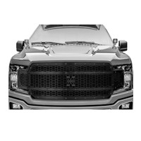 2018-2020 F150 T-Rex X-Metal Studded Upper Grille (Black with Black Studs)
