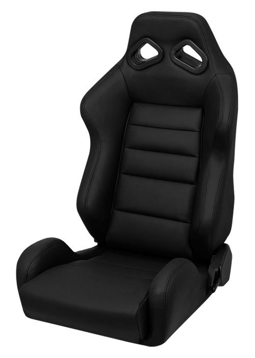 corbeau trs racing seat black leather l20801