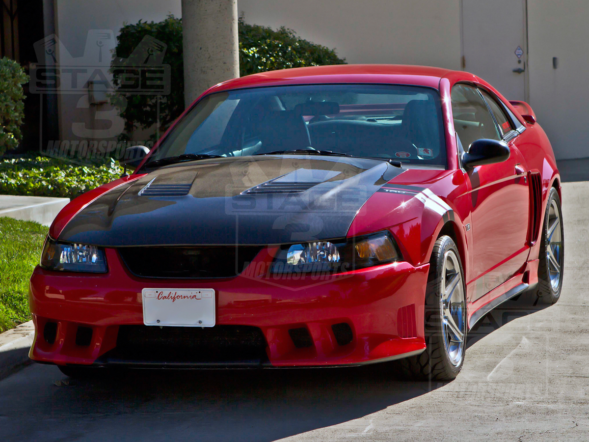 1999 2004 mustang trucarbon a70 saleen extreme style hood