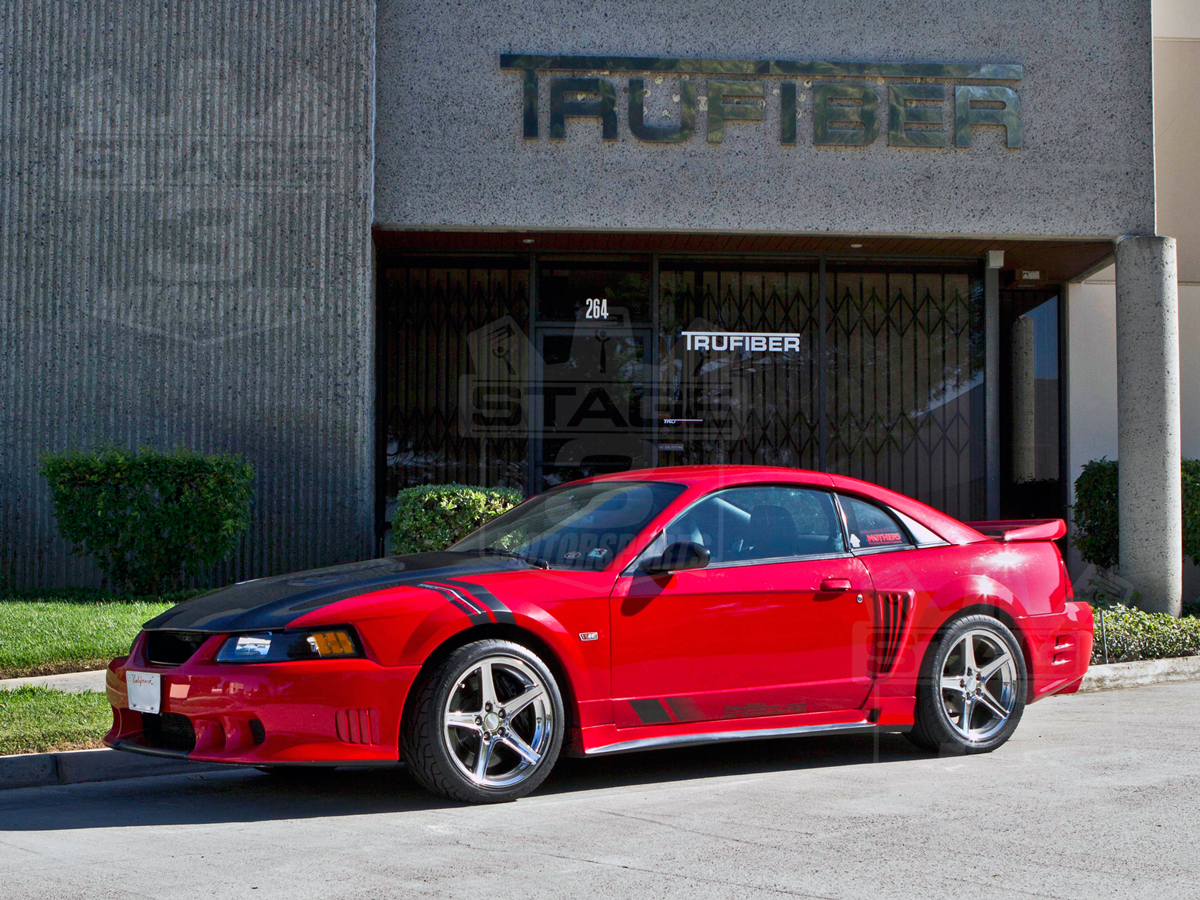 1999 2004 mustang trucarbon a70 saleen extreme style hood 10023 a70. Black Bedroom Furniture Sets. Home Design Ideas