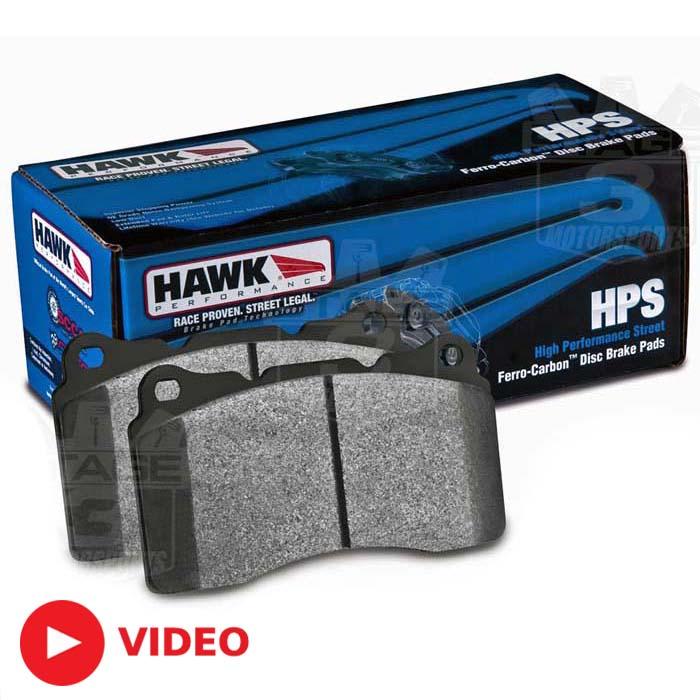 Hawk Performance Mustang Front Brake Pads: 2005-2014 Mustang GT / GT500 Hawk HPS Brake Pads (Front