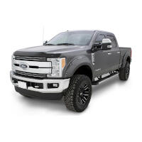2017-2019 F250 & F350 Bushwacker Pocket-Style Fender Flares (4 pc. - Oxford White)