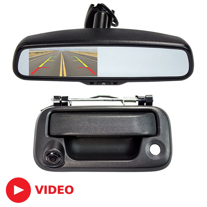 2004 2014 f150 rear view mirror back up camera package sv 6830 fd 9156. Black Bedroom Furniture Sets. Home Design Ideas
