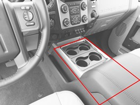 WeatherTech Super Duty Flow-Through Center Console Example