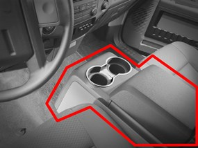 WeatherTech Super Duty Non-Flow-Through Center Console Example