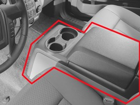 WeatherTech Non-Flow-Through Console Example