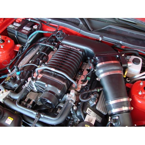 Roots Supercharger Kits: 2007-2012 Mustang GT500 Whipple 2.9L Supercharger (Black