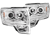 2009-2014 F150 & Raptor ANZO G1 CCFL Halo Projector Headlights (Chrome)