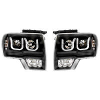 2009-2014 F150 & Raptor ANZO U-Bar Headlights (Black)