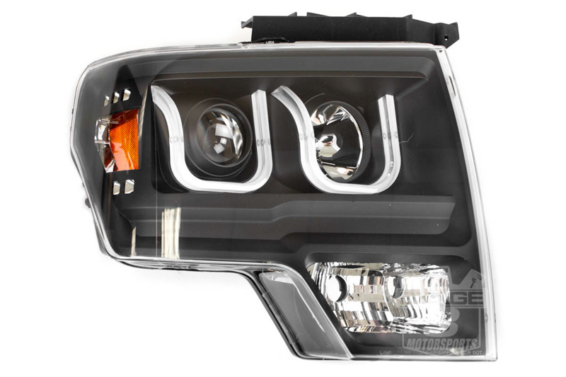2009 2014 F150 Amp Raptor Anzo U Bar Headlights Black 111263