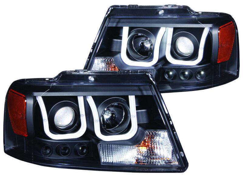 2004 2008 F150 Anzo U Bar Projector Headlights Black 111288