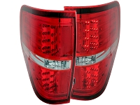 2009-2014 F150 & Raptor ANZO LED Taillights (Red)