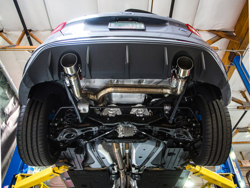 """Red Ford Fusion >> 2016-2017 Focus RS Agency Power 3"""" Stainless Steel Catback"""