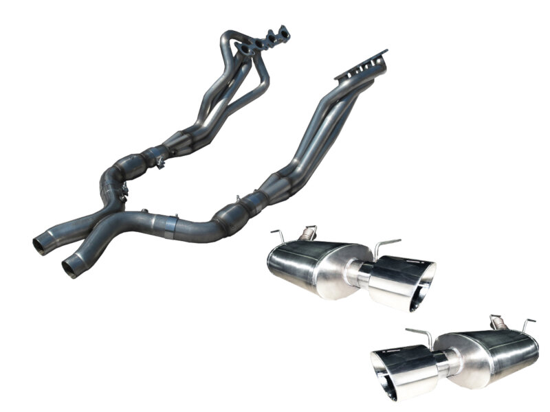 2015 2017 Mustang Gt American Racing 1 3 4 Headers Catted X Pipe W Axle Back Kit