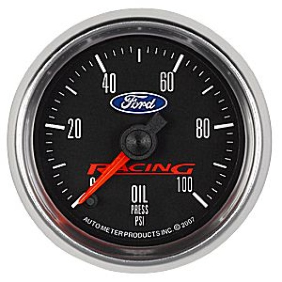 Auto Meter Ford Racing Full Sweep Oil Pressure Gauge (2-1/16