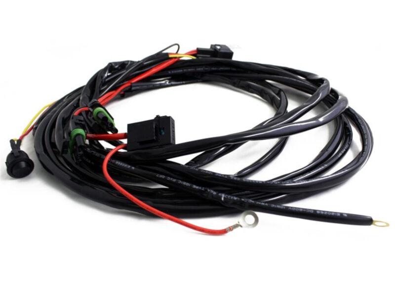 baja designs 150 watt 12 amp on off single light wiring harness  baja designs headlight harness 1 led