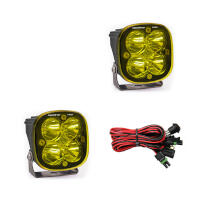 Baja Designs Squadron Pro Edition LED Spot Light - Amber (Pair)