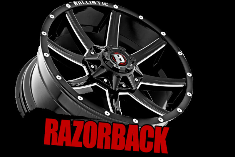 "Focus St Performance Parts >> 2004-2019 F150 Ballistic 20x9"" Black Razorback Wheel (12mm ..."