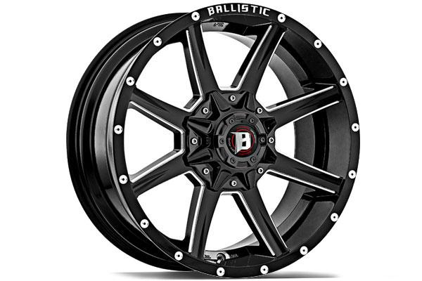 "2004-2019 F150 Ballistic 20x9"" Black Razorback Wheel (25mm ..."