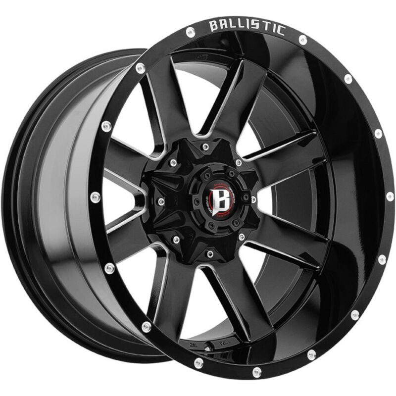 "2004-2018 F150 Ballistic 20x12"" Black Rage Wheel (-44mm ..."