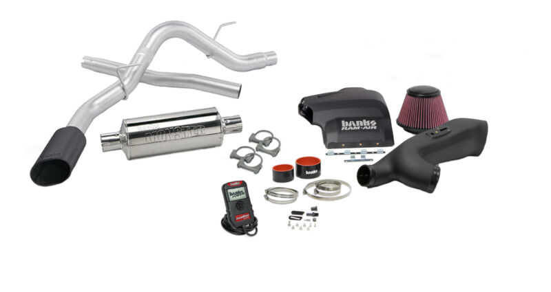 2011-2014 F150 3 5L EcoBoost Banks Stinger System - Cold Air  Intake/Tuner/Exhaust (Black)