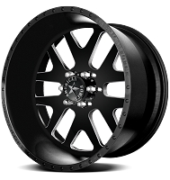 1999-2019 F250 & F350 American Force 22x10 Baus SS8 Wheel - Flat Black/Machined