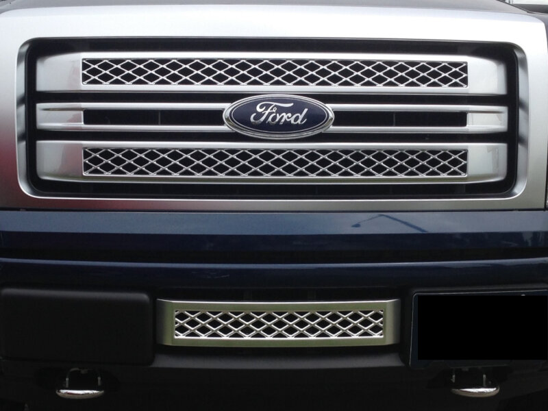 2013 2014 F150 Boost Bars Platinum Lower Plate Grille 13plat