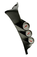 1999-2007 Ford Super Duty Auto Meter Triple Pillar Pod w/ 3 Gauges
