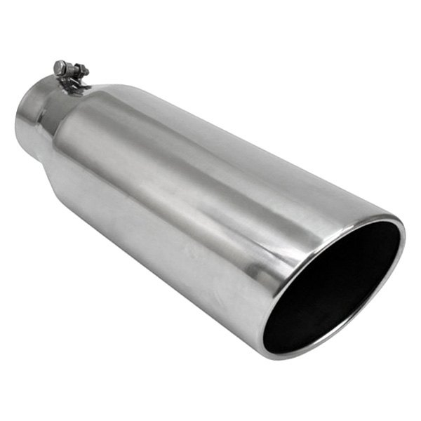 """3/"""" Inlet 4/"""" Outlet 18/"""" Long Black Stainless Steel Exhaust Tip"""