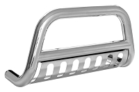 2004-2014 F150 Smittybilt Grille Saver Front Bull Guard (Stainless)