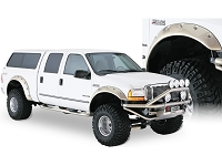 1999-2007 F250 & F350 Super Duty Bushwacker Cut-Out Style Fender Flares (Front Only)