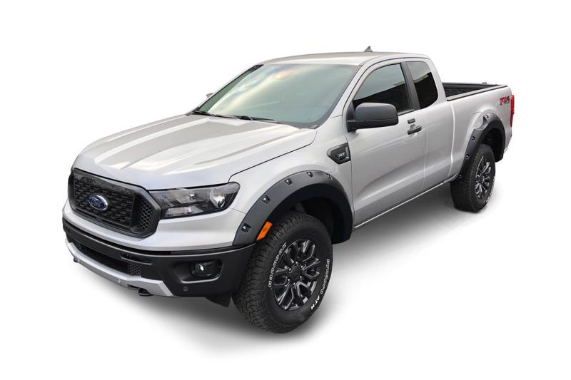 2019 2020 Ford Ranger Supercrew Bushwacker Pocket Style Fender Flares Matte Black 20949 02