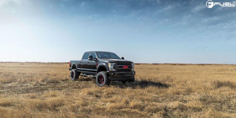fuel hardline   wheel mm offset gloss black red