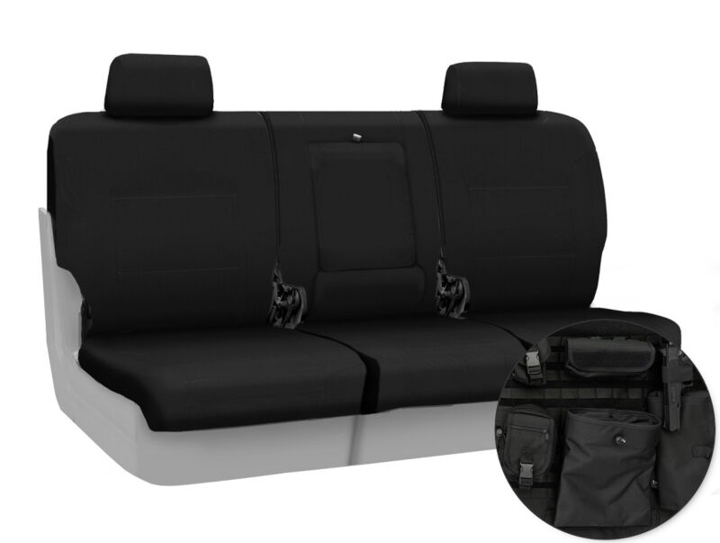 2013-2014 F150 CoverKing Ballistic Cordura Rear Seat Covers (Black)