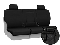 2015-2017 F150 CoverKing Ballistic Cordura Rear Seat Covers (Black)