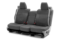 2013-2014 F150 CoverKing Ballistic Cordura Rear Seat Covers (Charcoal)