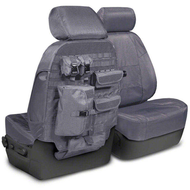 2013-2014 F150 CoverKing Ballistic Cordura Front Seat Covers (Charcoal)