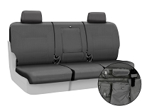 2011-2012 F150 CoverKing Ballistic Cordura Rear Seat Covers (Charcoal)
