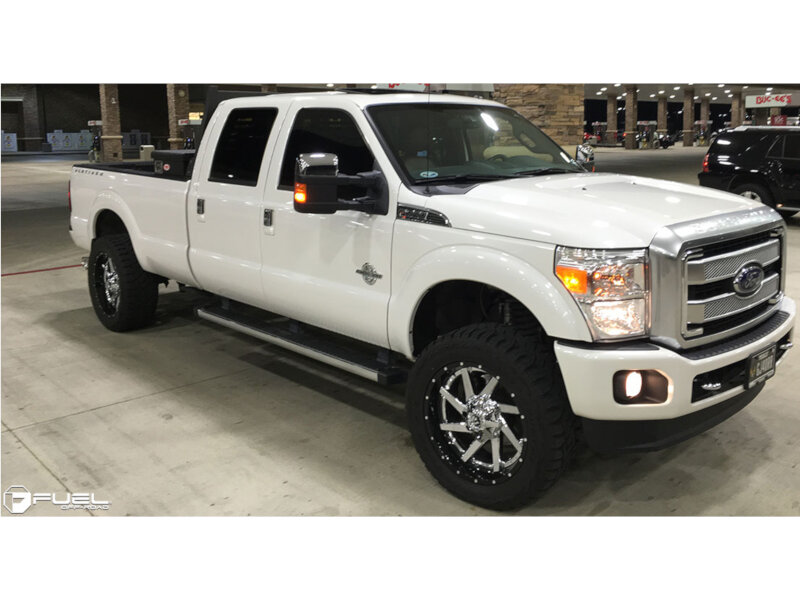"1999-2019 F250 & F350 Fuel Renegade 22x12"" Powder Chrome Wheel (-44 Offset) D26322201747"