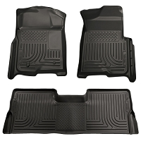 2008-2010 F250 & F250 Husky WeatherBeater Front & Rear Floor Mats