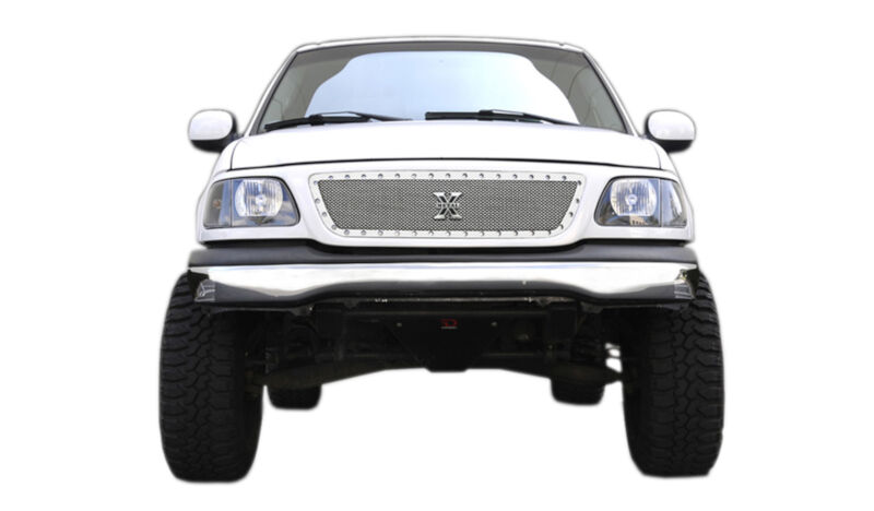 1999-2002 F150 T-Rex X-Metal Series Studded Front Grille (Polished SS)