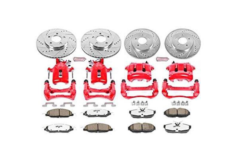 Rear Brake Calipers Rotors Pads For 2005 2006 2007-2013 FORD MUSTANG V6 V8