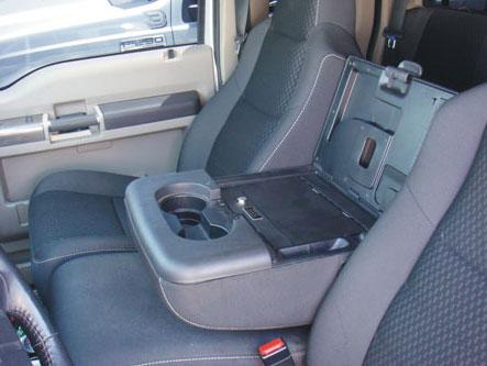 2004 2011 F150 Console Vault Fold Down Armrest Console Gun Safe