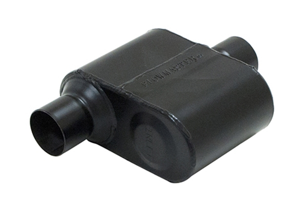 """Flowmaster Super 10 Muffler 3/"""" Single Inlet//2.5/"""" Dual Outlet Stainless 6.5/"""" Long"""